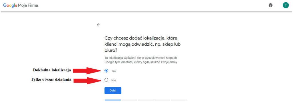 Dodawanie lokalizacji do wizytówki Google